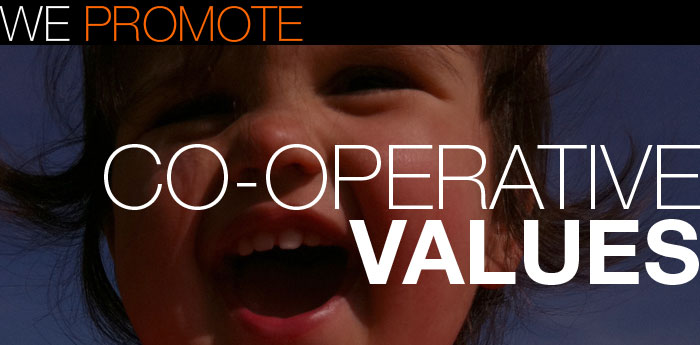 We promote co-operative values